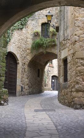 Village medieval.Pals Reklamní fotografie