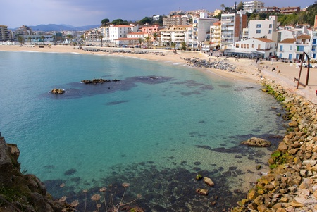 costa brava: Beach of Blanes.Catalonia.Spain