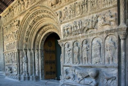 Door romanesque of the monastery of Ripoll Catalonia Spain