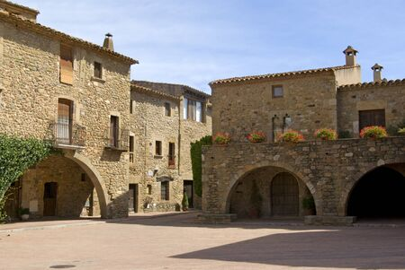 Medieval village of Monells Catalonia photo