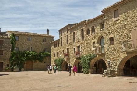 Medieval village of Monells Catalonia  Reklamní fotografie