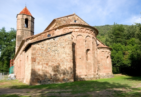 sant: Monastery of Sant Joan les Fonts Catalonia