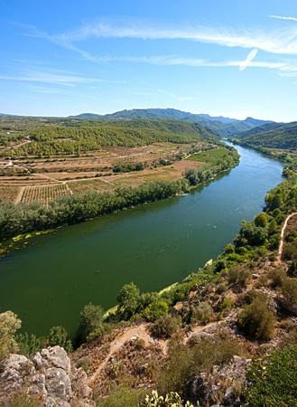 View of the river Ebro in Tarragona Spain