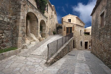 pals: View of the medieval village of Pals Catalonia Spain Stock Photo
