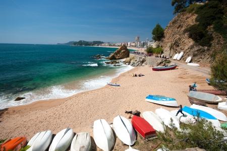 View of LLoret de Mar Catalonia Spain