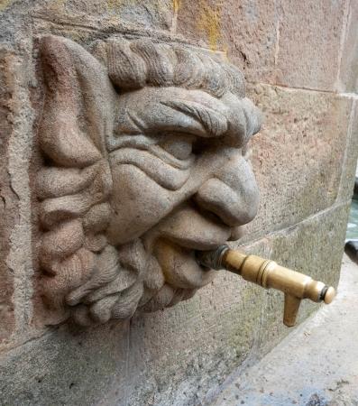 xv century: Gothic font of XV century in Solsona Catalonia Spain Stock Photo