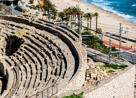 roman amphitheatre: Anfiteatro romano de Tarragona Catalu?a Espa?a