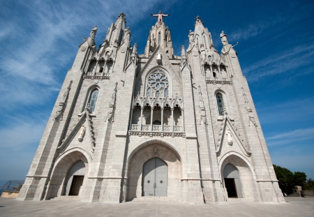 tibidabo: Tibidabo temple, Barcelona, Spain  Stock Photo