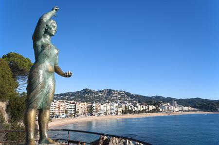 View of LLoret de Mar in the Costa brava. Catalonia. Spain photo