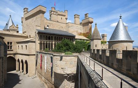 stone of destiny: Olite Castle in Navarra,Spain