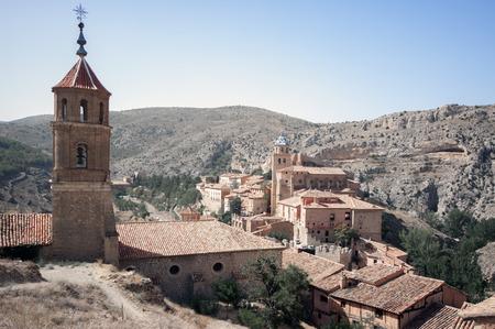 View of te medieval village.Albarracin.Teruel.Spain photo
