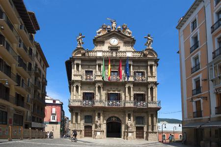 navarra:  the City Hall in Pamplona, Navarra, Spain  Editorial