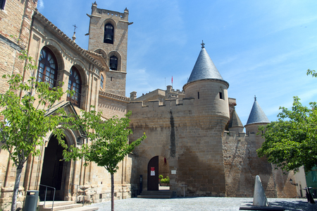 stone of destiny: View of Olite castle in Navarre,Spain Stock Photo