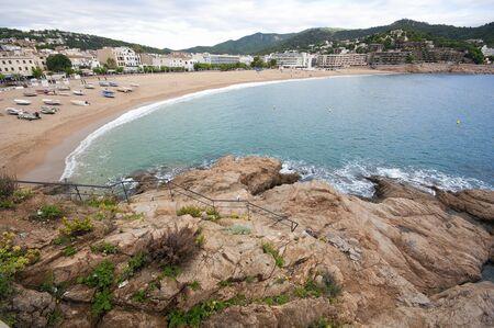 View of Tossa de Mar in the costa brava.Catalonia.Spain