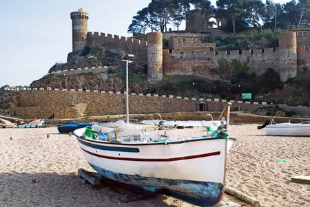 view of Tossa de mar.catalonia.spain