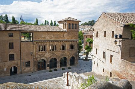 camino: View of Estella.Navarre.Spain.the Pilgrims Road to Santiago de Compostela