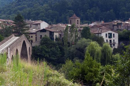 sant joan de les abadesses: View of Sant Joan de les Abadesses in Catalonia.Spain