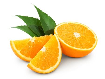 Orange fruit isolated on white background + Clipping Path  photo