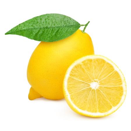 Citrons isolé sur fond blanc Banque d'images