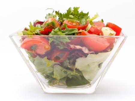 Healthy garden salad photo