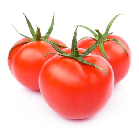 Fresh Tomato Vegetables isolated on white