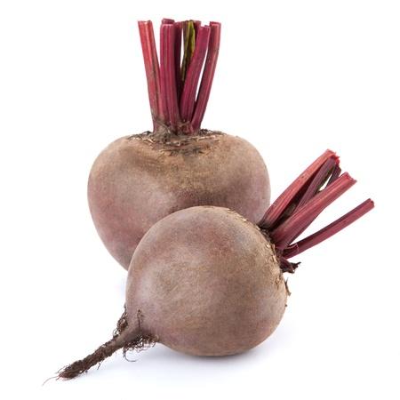 betabel: Remolacha púrpura vegetales aisladas sobre fondo blanco Foto de archivo