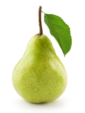 pears: ripe pears isolated on white background