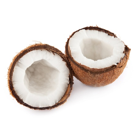 two and a half: Two coconut half Stock Photo