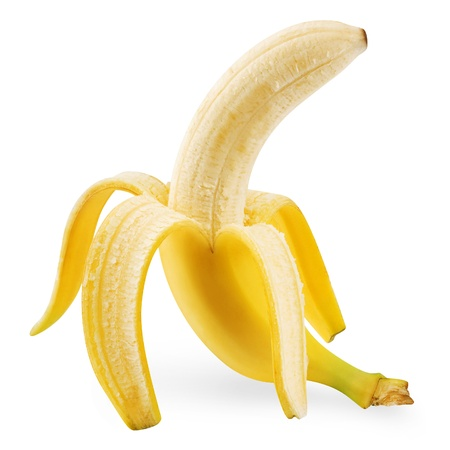 banana skin: banana  Stock Photo