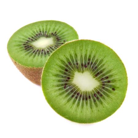 kiwi fruit isolated on white background photo