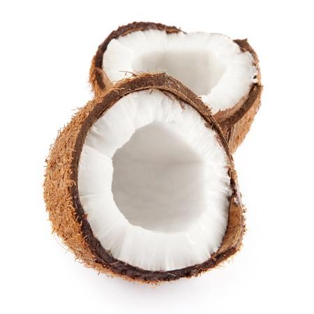 noix de coco: Deux demi noix de coco Banque d'images