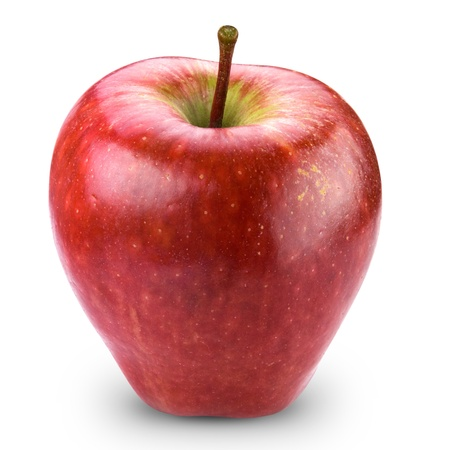 Red apple fruit + Clipping Path  photo