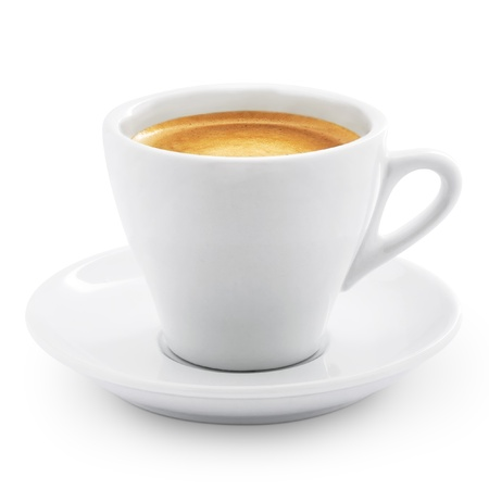 Caffe espresso isolated on white  Stock Photo