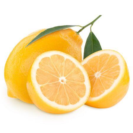 Lemons isolated on white background photo