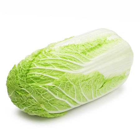Chinese cabbage on white background photo