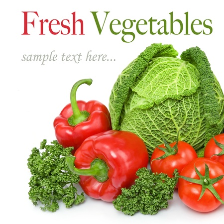 fresh vegetables, paprika, tomatoes, cabbage, parsley