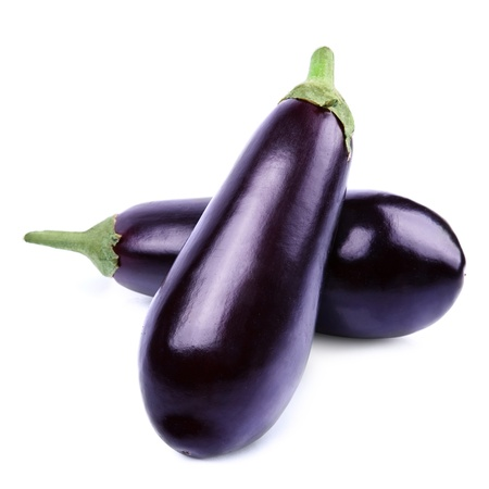 violaceous: aubergine vegetable isolated on white