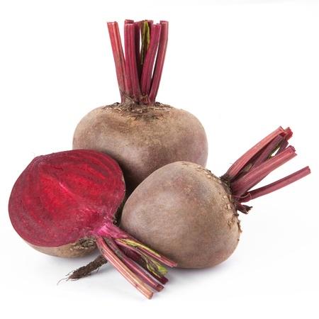 Remolacha púrpura vegetales aisladas sobre fondo blanco Foto de archivo