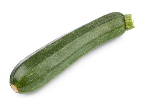 marrow squash: zucchini isolated on white