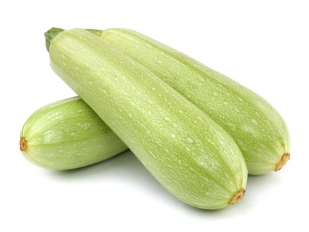 marrow squash: Fresh vegetable marrow. Isolated on white
