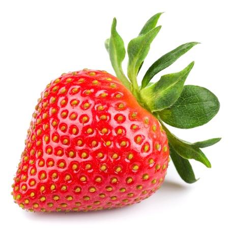 Fresh strawberry isolated on white background. Studio macro photo