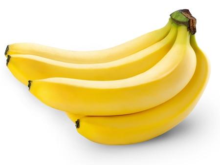 banane: bananes isol?ur fond blanc