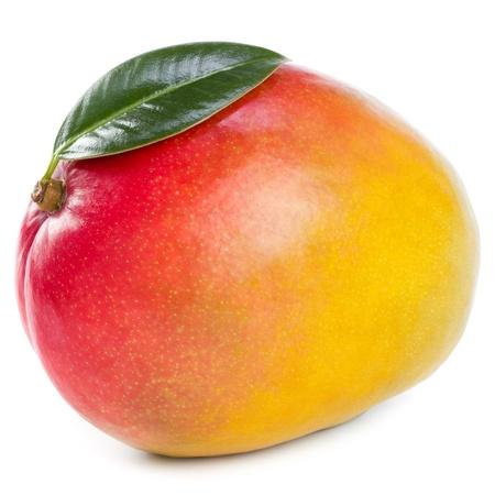 green mango: mango isolated on white Stock Photo