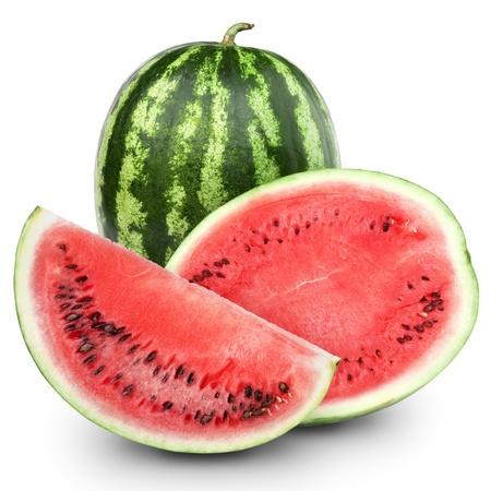 Wassermelone isoliert auf wei�em Hintergrund Lizenzfreie Bilder