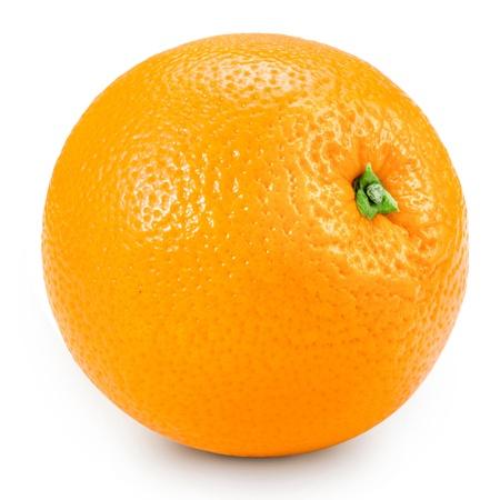 Orange isoliert auf wei�em Hintergrund