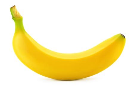 banane: Une banane sur fond blanc Banque d'images