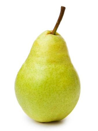 pera: peras aisladas sobre fondo blanco Foto de archivo