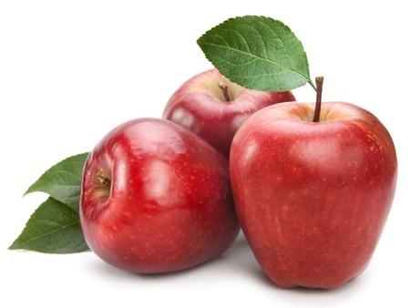 apple fruit closeup isolated on white background photo
