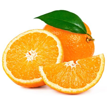 naranjas: Uno naranjas y media naranja medio jugosos