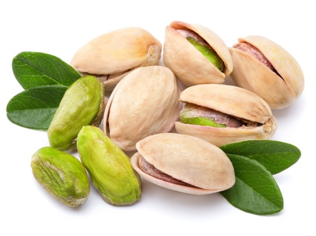 Pistachio nuts isolated  Stock Photo